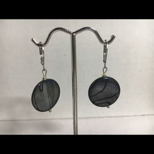 Handcrafted dyed mother of pearl earrings
